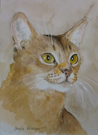 Aquarelle of Highgaitpaws I'm Ivy of Detrevande